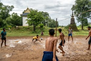 Cambodia sport volley ball game
