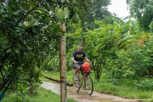 Cycling Koh Trong Island Kratie Cambodia