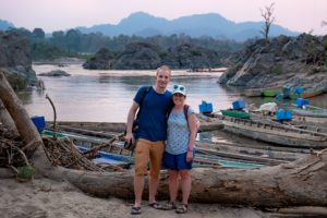 Sweet couple explore the Mekong regions