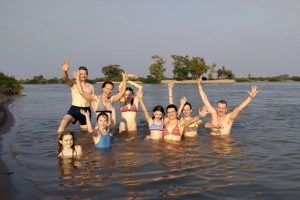 Swimming in the Mekong