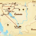 5-Day Off the Beaten Track Cambodia Tour Map