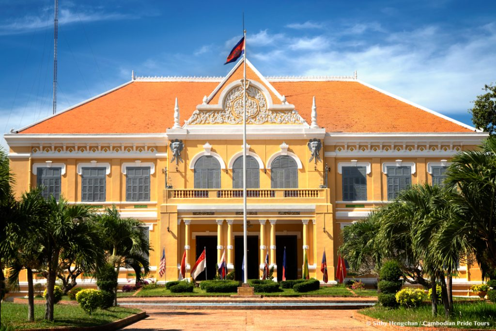 French colonial style ancient houses governor mansion Battambang