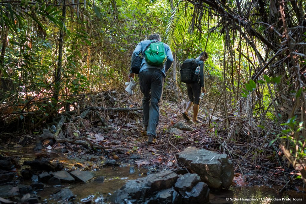 Hiking in rain forests along the Mekong River