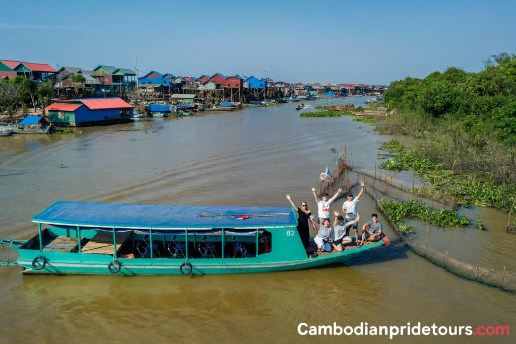 Vehicle Overview - Boat used at Tonle Sap Lake Visit